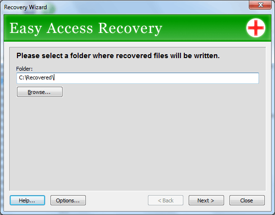 Easy Access Recovery Screenshot