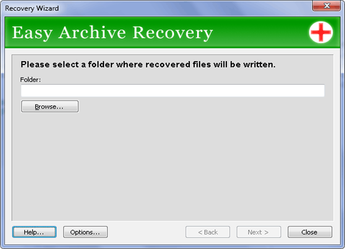 Easy Archive Recovery Screenshot
