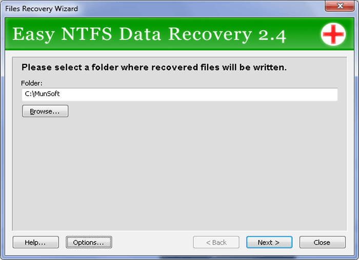 Easy NTFS Data Recovery Screenshot