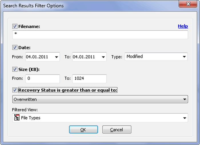 Easy NTFS File Undelete Screenshot