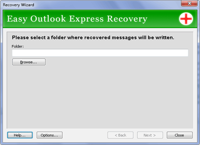 Easy Outlook Express Recovery Screenshot