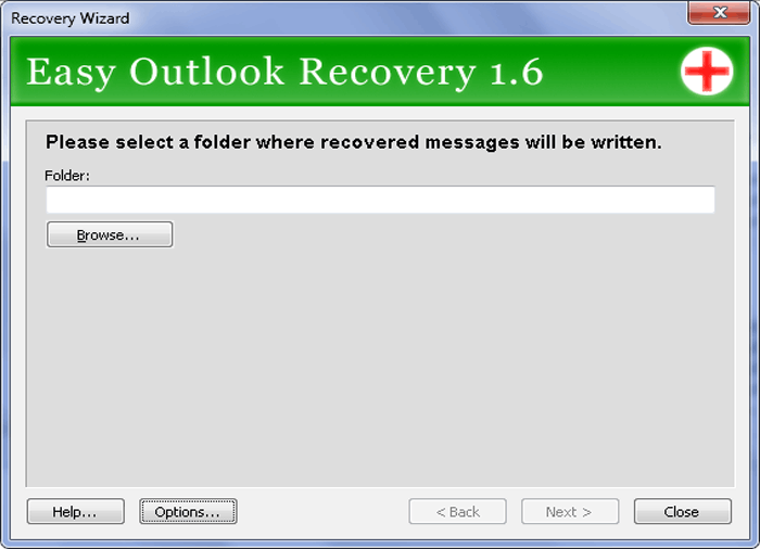 Easy Outlook Recovery Screenshot