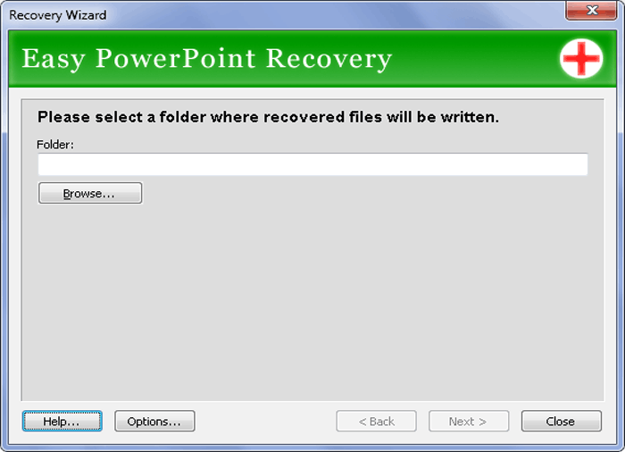 Easy PowerPoint Recovery Screenshot