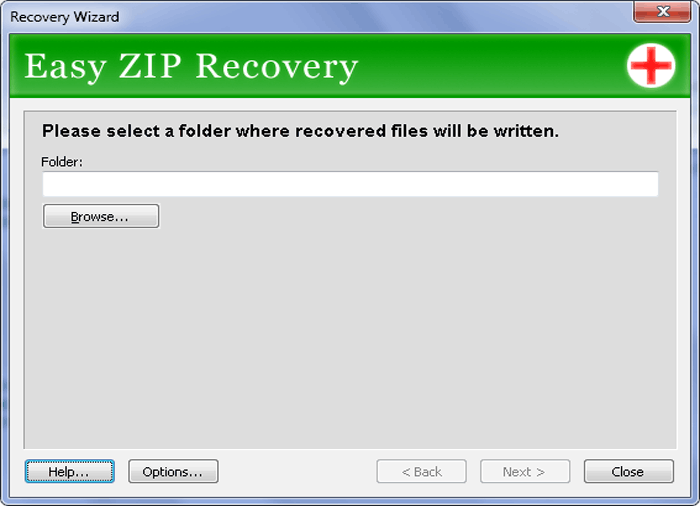 Easy ZIP Recovery Screenshot